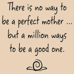 Mom Quote Monday ~ There is no way to be a perfect mother…