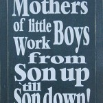 Mom Quote ~ For All My Fellow Mamas of Boys