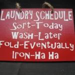 {Humor} My Laundry Schedule