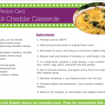 Broccoli Cheddar Casserole Recipe + eMeals Meal Planning Made Easy Promo Code