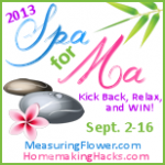 Welcome to the Spa For Ma Giveaway Hop (OVER)