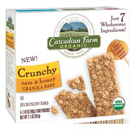cascadian farm crunchy granola bars
