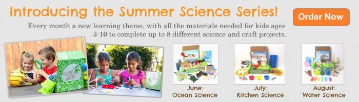 Green Kid Crafts Summer Science Series - Get 3 months FREE coupon