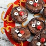 Cute Christmas Treats to Make: Rudolph Brownie Bites