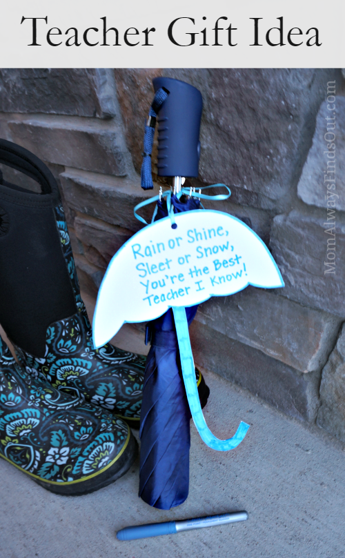 Teacher Gift Idea: Umbrella with Simple Appreciation Poem