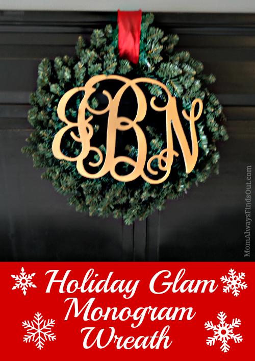 holiday wreath monogram 2