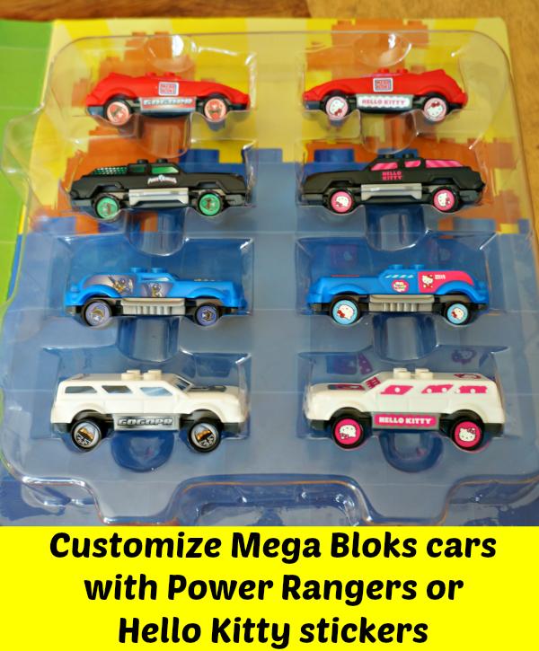 mega bloks cars stickers