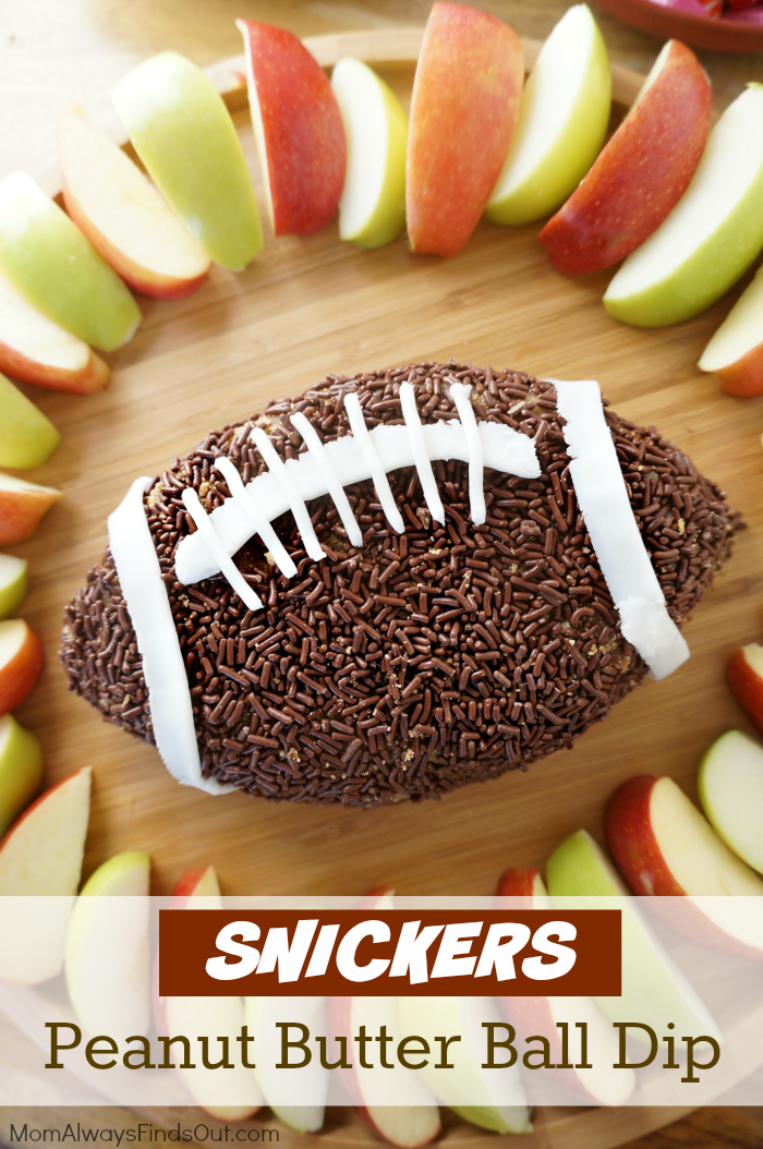 Football Food Snickers Peanut Butter Ball Recipe