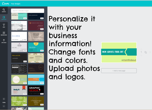 How to make your own business cards with Canva