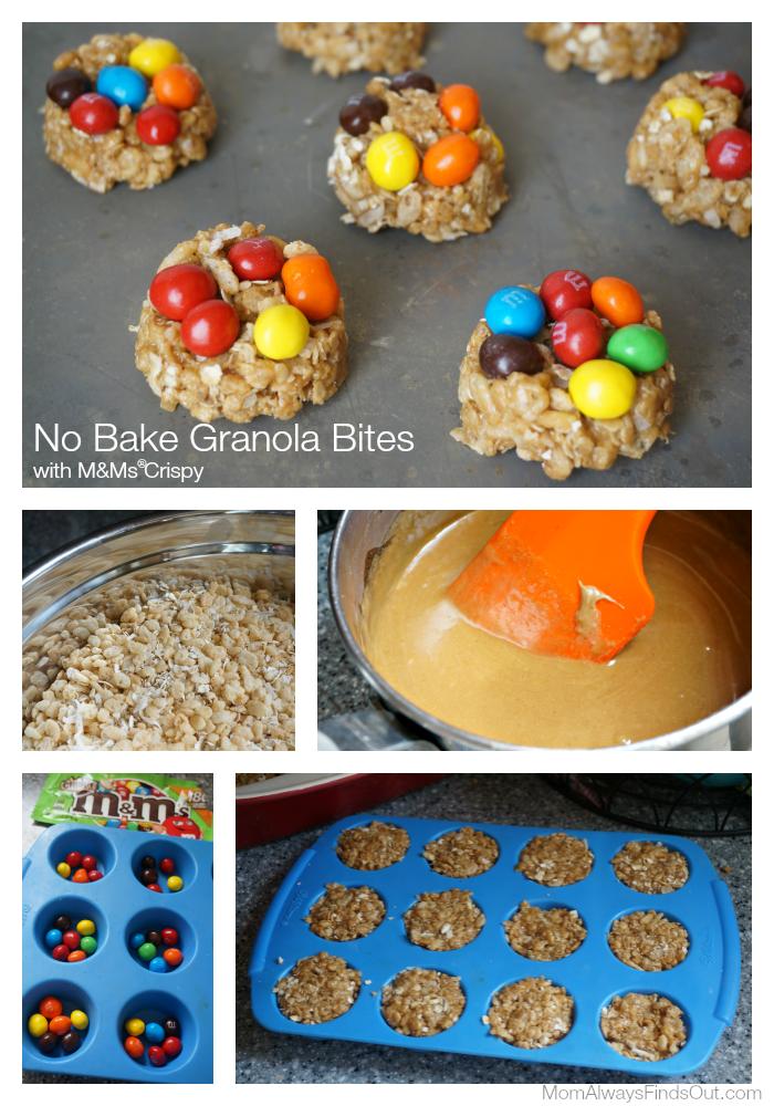 homemade granola bars with MMs