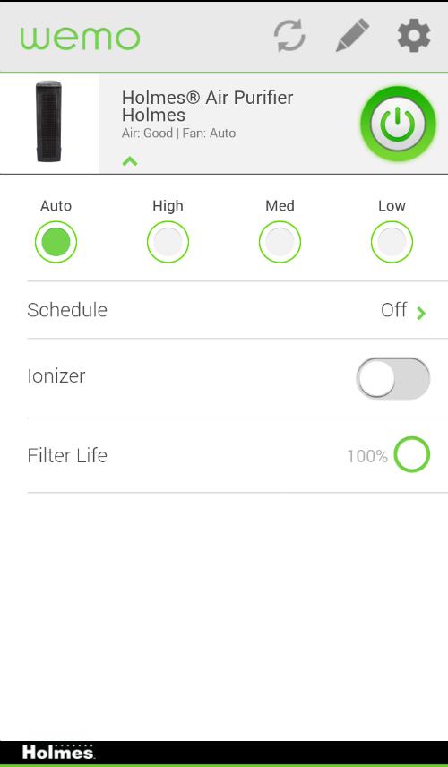 wemo app air purifier