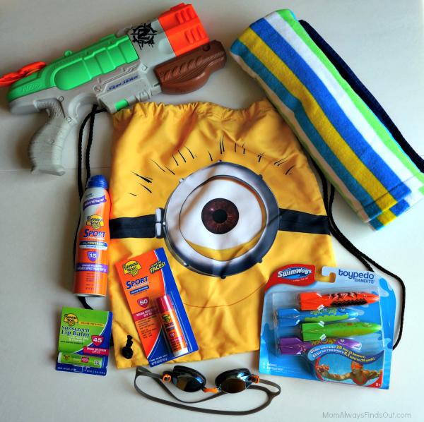 pool bag fun for kids