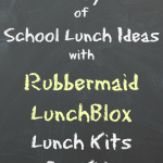 5 Days of School Lunch Ideas with Rubbermaid LunchBlox + #BloxOff Giveaway #IC