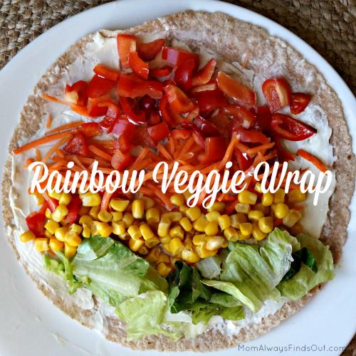 rainbow veggie wrap