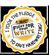 bic pledge badge
