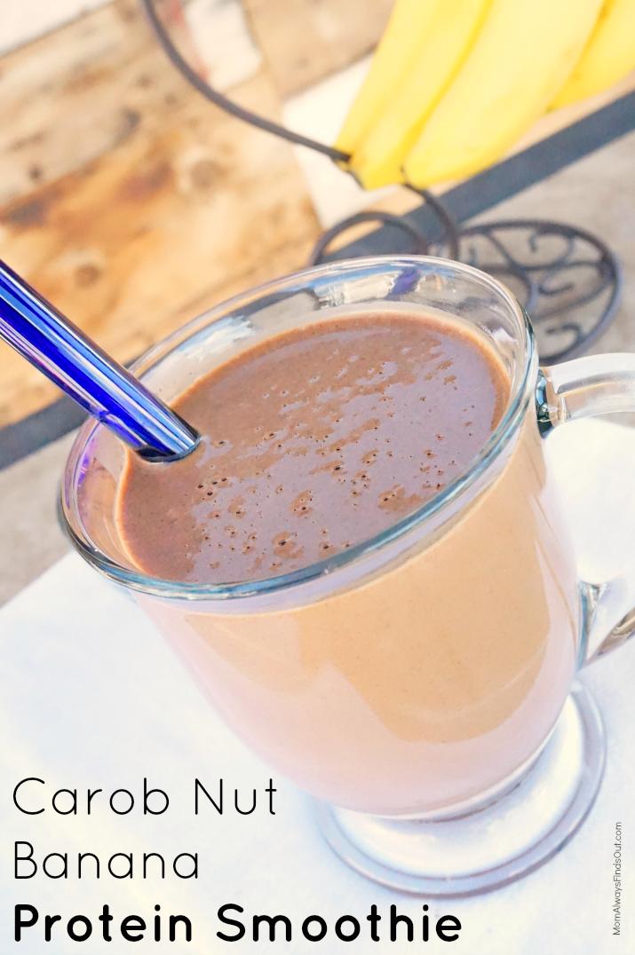 carob nut banana protein smoothie