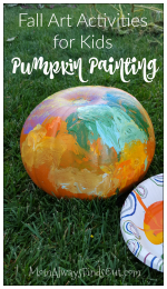 Fun Fall Art Activity For Kids: Pumpkin Painting