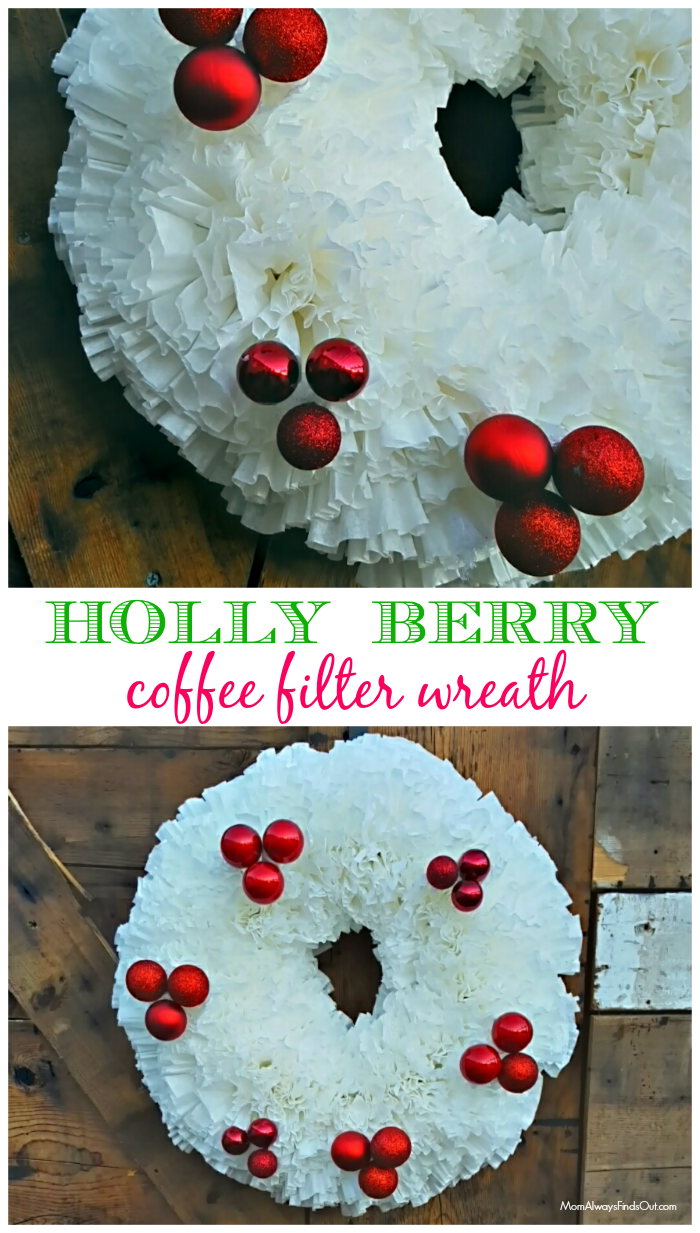 Christmas Wreath Ideas How To Make A Coffee Filter Wreath