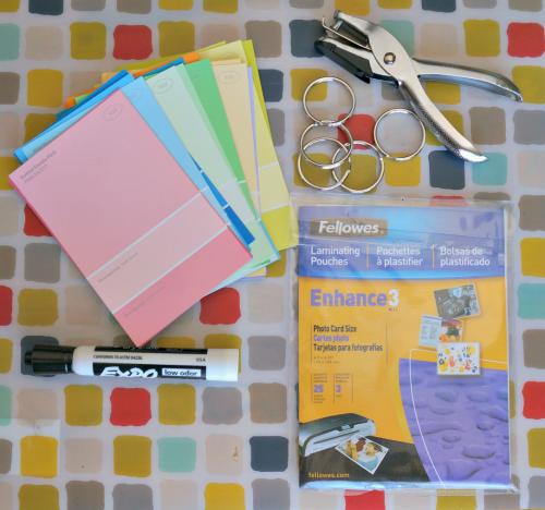 chore cards diy supplies