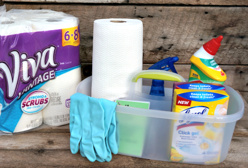 cleaning supplies caddy