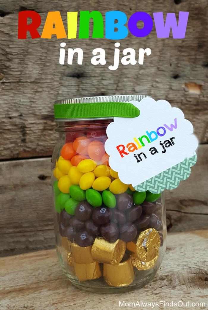 Rainbow Candy in a Jar