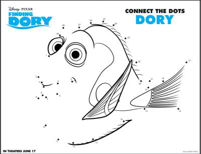 finding dory dot to dot