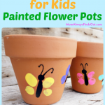 Spring Crafts For Kids Thumbprint Art Painted Flower Pots