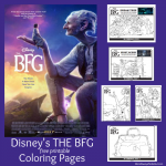 Free Printables! Disney's THE BFG Movie Coloring Pages