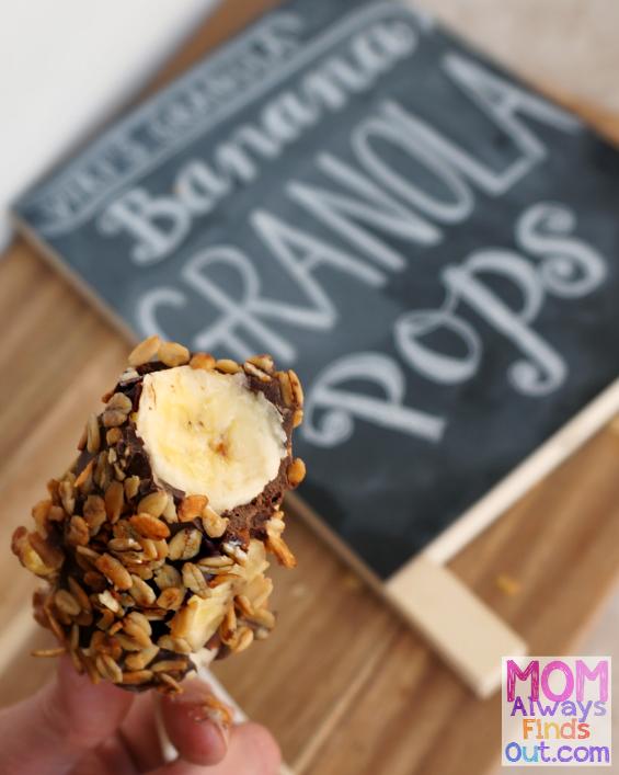 Frozen Banana Granola Pops #NationalBananaLoversDay