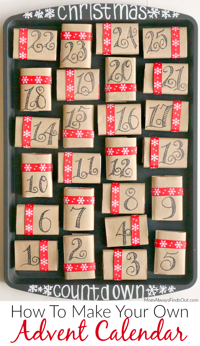 How To Make An Advent Calendar At Momfindsout Easy Diy Christmas Crafts And Decor