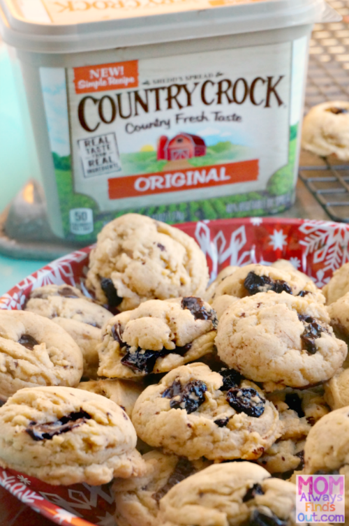 Country Crock Make It Yours Recipe Dark Chocolate Chunks and Dried Cherry Cookies #MakeItYours