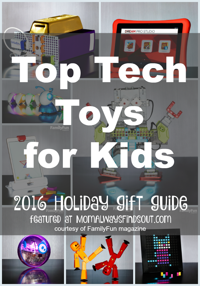 Check out this list of Tech Toys for Kids! There's something for every kid ages 4 and up! @momfindsout