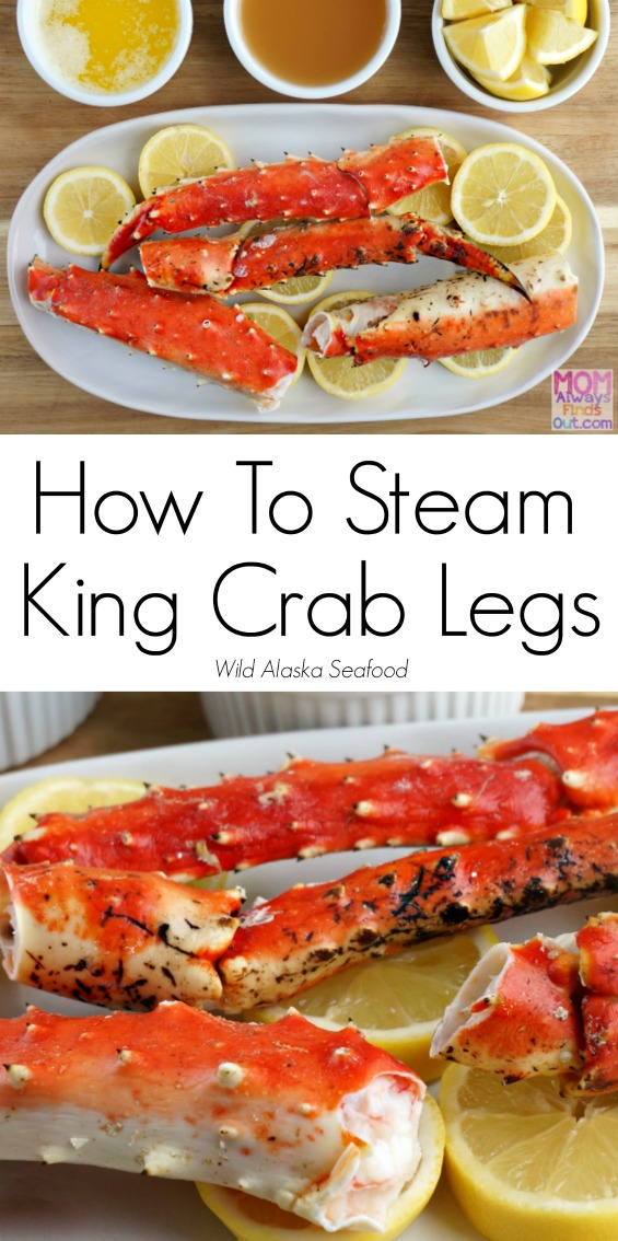 Steamed King Crab Legs Recipe and Directions #AskForAlaska @AlaskaSeafood