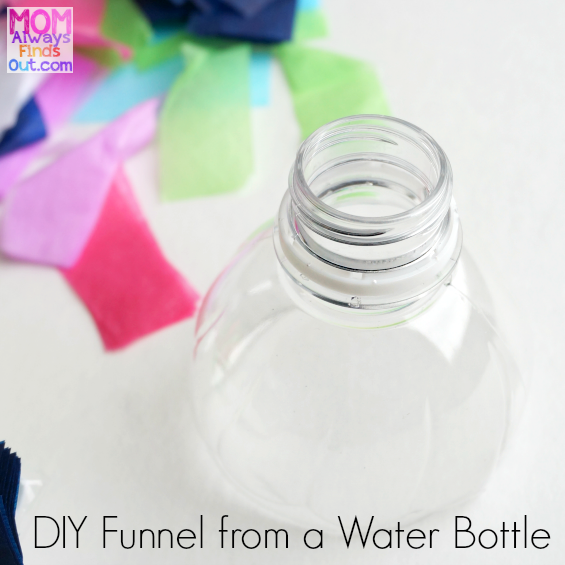 DIY Funnel from a plastic water bottle