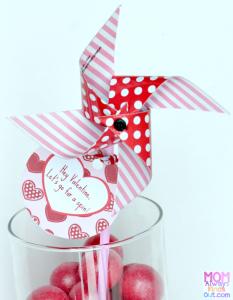 valentine's pinwheel printable tags
