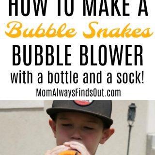 Bubble Snakes Bubble Blower Craft