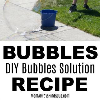 Homemade Bubbles Solution Recipe