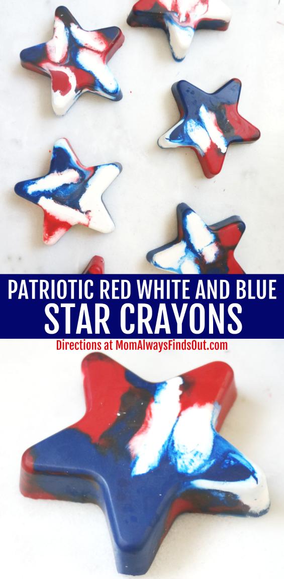 Patriotic Star Crayons Craft