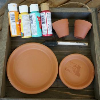 DIY TerraCotta Pots Tiered Jewelry Holder Craft Tutorial