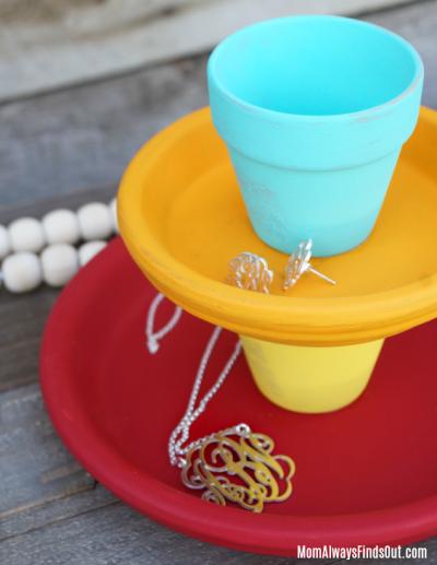 DIY Jewelry Holder Craft - Terra Cotta Pot Ideas