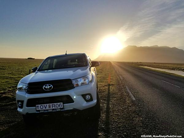 Midnight Sun Toyota HiLux Iceland