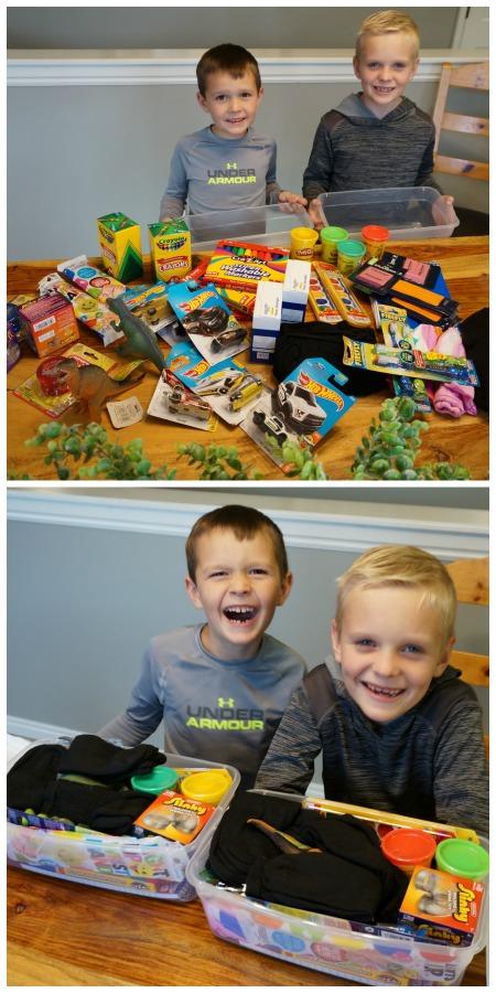 Family Volunteer Day Shoeboxes #familyvolunteerday