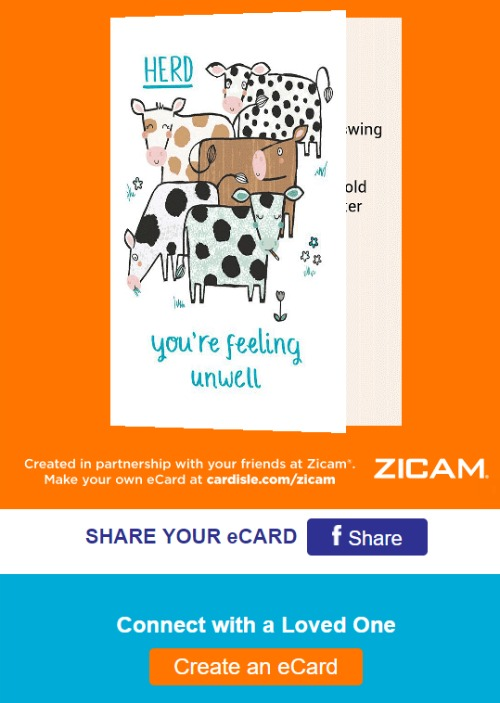 Zicam Get Well Card - Free e-card Greeting Card Creator #ZicamCrowd