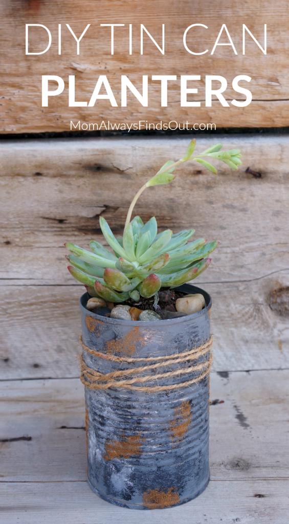DIY Tin Can Planters Garden Craft Ideas