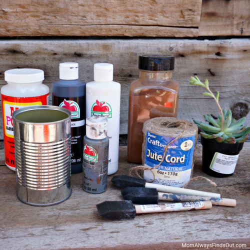 DIY Tin Can Planters Supplies