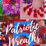 You'll love easy-to-make patriotic wreaths to decorate your door for the Fourth of July! Can you believe these wreaths are made with craft supplies from the dollar store?!?! Be sure to stash your wreath somewhere convenient so you can hang it again for Labor Day and Memorial Day.