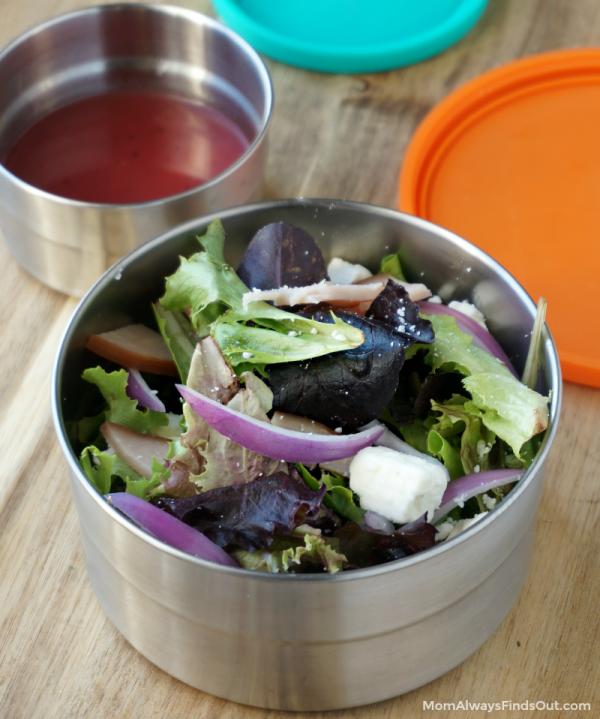 Turkey Cranberry Spring Mix Salad Recipe with Raspberry Vinaigrette