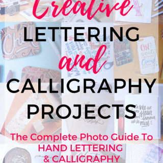 Hand Lettering and Calligraphy Projects by Abbey Sy