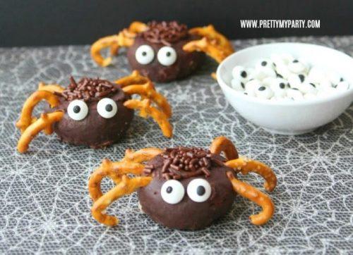 Easy Mini Chocolate Donut Spiders