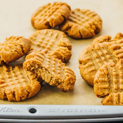 Peanut Butter Cookie Recipes It's Peanut Butter Lovers Month! Check out all thing Peanut Butter. Plus link up at Home Matters. #PeanutButter #HomeMattersParty